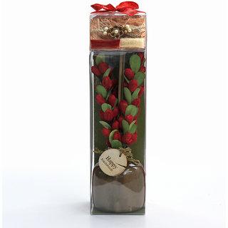 Rakshabandhan Rakhi gifts for Brother/Sister-Ceramic Gift Pot Arrangament with Rakhi Thread - Deco ARO