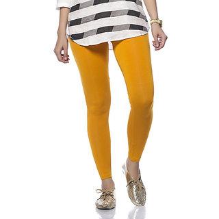 Girls Lycra Cotton Lagging - Dark Yellow