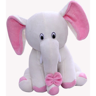 elephant white  pink color  size -30 cm 20 cm10 cm