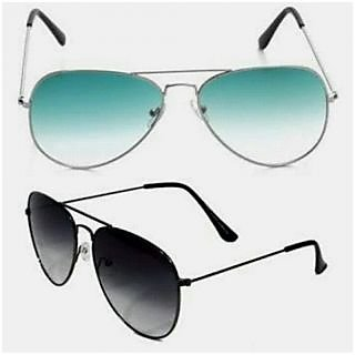 Bm fashion mens sunglas combo black green aviater