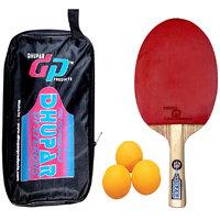 Dhupar Dexterous Table Tennis Bat With Balls