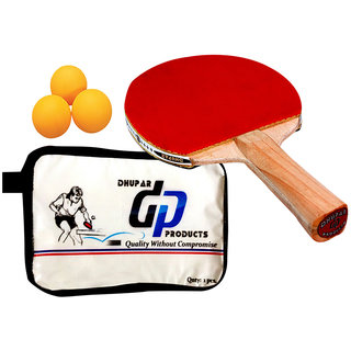 DHUPAR TOP TABLE TENNIS BAT (SET OF 1) WITH BALLS