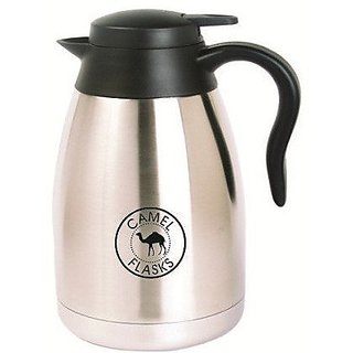 Camel Coffeepot Stainless Steel Vacuum Flask with Lid, Size - 1000 ml - For Home, Travel, Picnics, Vacations