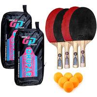 DHUPAR DEXTEROUS TABLE TENNIS BAT (SET OF 4) WITH BALLS