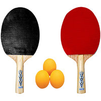 DHUPAR NATTY TABLE TENNIS BAT (SET OF 2) WITH BALLS