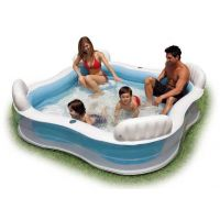 7.5 Feet Intex Swim Center Family Lounge Swimming Pool Inflatable With Air Pump