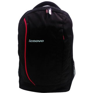 Black Polyester Backpack Manufactured For Lenovo Laptops