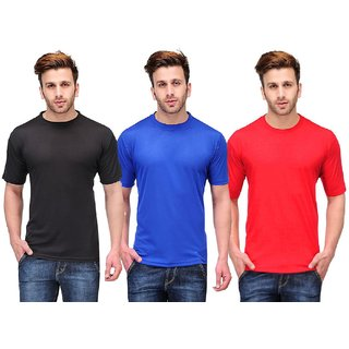 Tripr Mens RoundNeck Tshirt Combo black red royalblue