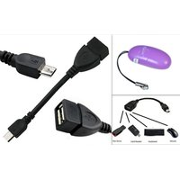 Micro USB OTG Cable + Card Reader (Connects to Pen Drive, Keyboard, Card Reader, Mouse)