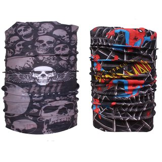 Sushito 14 In 1 Multi Purpose Headwrap/Bandana Set Of Two JSMFHMA0838-JSMFHMA0562