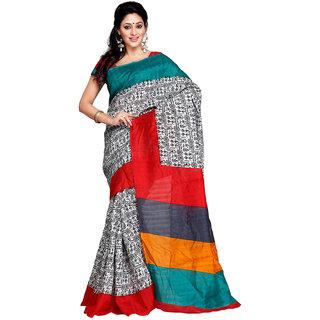 Yuvanika Multicolor Art Silk Printed Saree