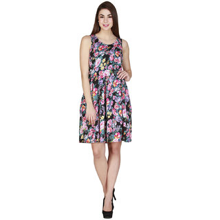 Add to style Multicolor Printed Sleeveless Polyester Dress