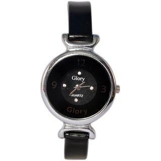 Glory black watch for Girls & Women (Round)