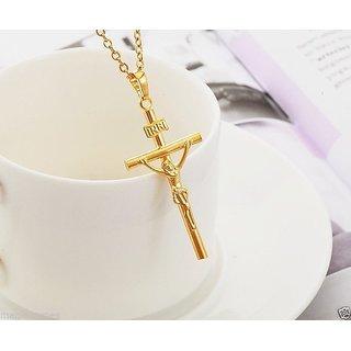 18Ct Pure Gold Plated INRI Cross Jesus Pendant Christ Pendant