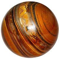Satyamani Natural Tiger Eye Gemstone Sphere-Ball For Reiki Chakra Vasstu And Space Healing