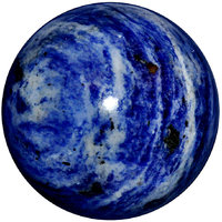 Satyamani Natural Sodalite Gemstone Sphere-Ball For Reiki Chakra Vastu And Space Healing