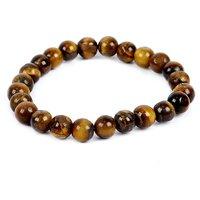 Satyamani Natural Tiger Eye Beads Bracelet For Strength  Prosperity