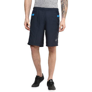 Aurro Sports Navy/Turquoise Streak Shorts