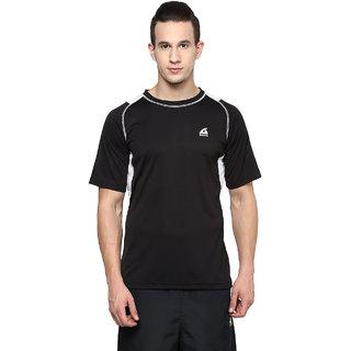 Aurro Sports Black And White Win Big Crew T Shirt
