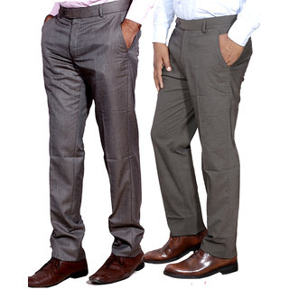 Indiweaves Men Rayon Formal Trouser Combo -2