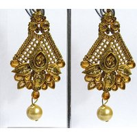 Golden Drop Leaf Earring