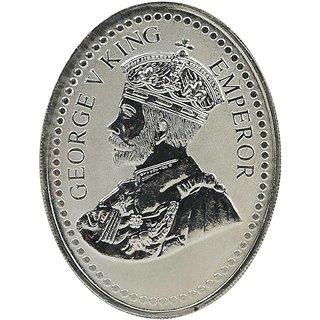 Shubham Motiwala BIS 999 Hallmark Silver King George Coin, 50 Gms
