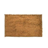 Just Linen Chenille Pom Pom Antiskid Rust Brown Floor Mat