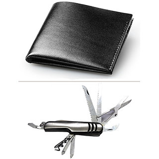 Jack Klein Combo of Black Wallet And Swiss Knife