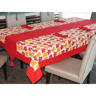 Lushomes Basic Printed 4 Seater Table Linen Set
