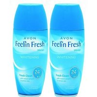 Avon Feelin Fresh Whitening Rod Combo Pack (40G Each) Deodorant Roll-On - For Women, Girls (80 G)