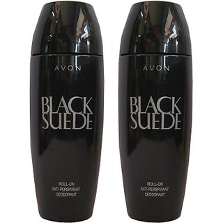 Avon Black Suede Classic Rod Combo Pack (40G Each) Deodorant Roll-On - For Men Boys (80 G)