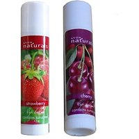 Avon Natural Lip Balm (Set Of 2 Of 4.5 G Each) Strawberry, Cherry (9 G)