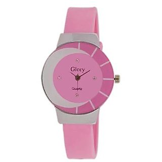 Steal Deal Flat Glass Trendy Watch For The Girls