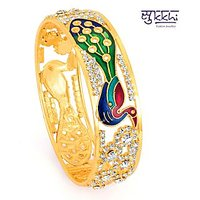 Sukkhi Golden Green Brass  Copper Gold Plated Bajuband/Armlet For Women