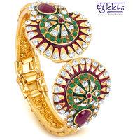 Sukkhi Multicolor Brass  Copper Gold Plated Kadas For Women