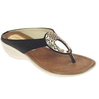Khadim's Cleo Black Womens Heel Sandal ]