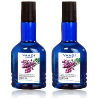 Vaadi Herbals Aromatherapy Body Oil-Lavender and Almond Oil - 110ml (Pack Of 2)