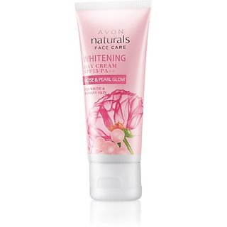 Avon Naturals Rose Whitening Cream Spf15 (50 G)
