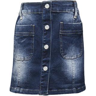 WESTERN BASICS Dark Blue New Girls Denim Shorts
