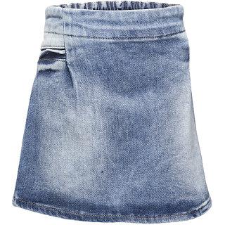 WESTERN BASICS Latest Mid Blue Girls Denim Shorts