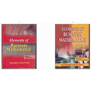 B.Com Mathematics for DU, MDU, KU (Sem I+II)