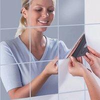 9/16 Pieces/lots 15cm15cm Wall Sticker Silver Kitchen Decorative Self-adhesive Mosaic Bathroom Mirror Surface Waterproo