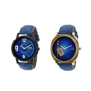 Oura Analog Round Casual Ware Watch For Men Combo Of 2pc