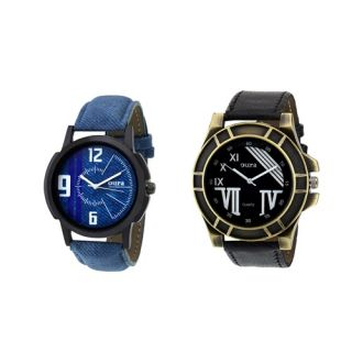 Oura Round Analog Casual Ware Watch For Men Combo Of 2pc