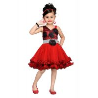 Mid Age Girl's Floral Design Frock