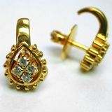 Diamond Earring In Yellow Gold - SAN42