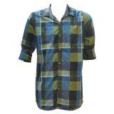 Casual Cotton Green Checks Shirt For Men