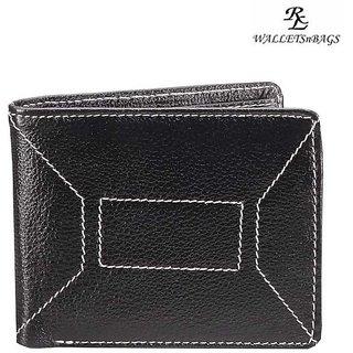 Ndm Stitch Mens Wallet - Black (W 11)
