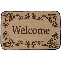 Saral Home Premium Quality Anti Slip Jute Door Mat (15X23 Inches)