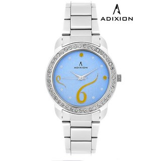Adixion Sky Blue Square Dial Analog Watch For Women's